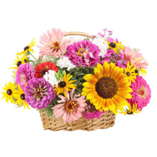 Цветы в корзинке «Дары природы»