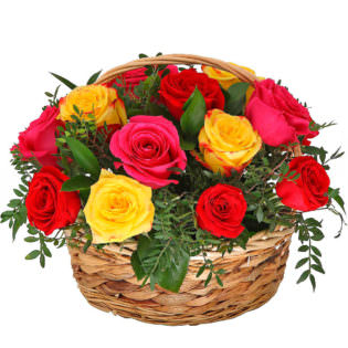Цветы в корзинке «Микс»